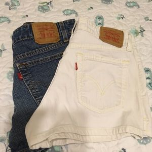 Two pair Levi shorts